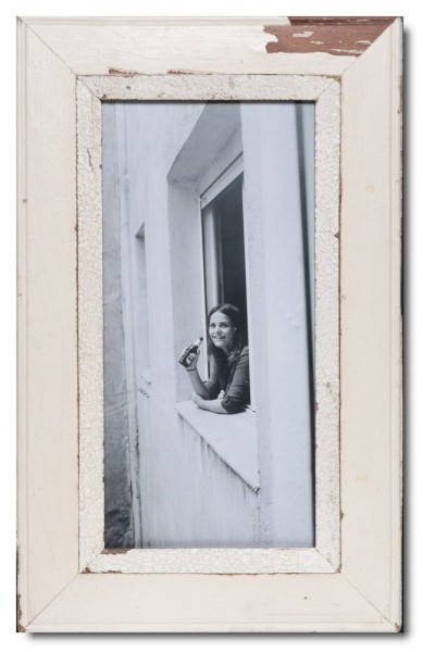 Panoramic reclaimed wood photo frame for photo size 2:1