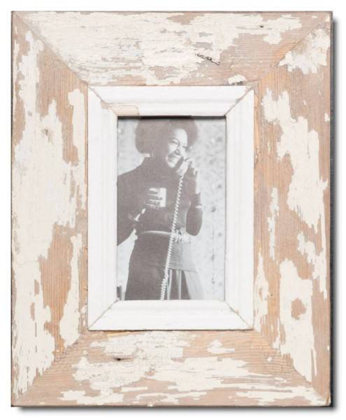 Reclaimed wood picture frame for photo size 14,8 x 10,5 cm