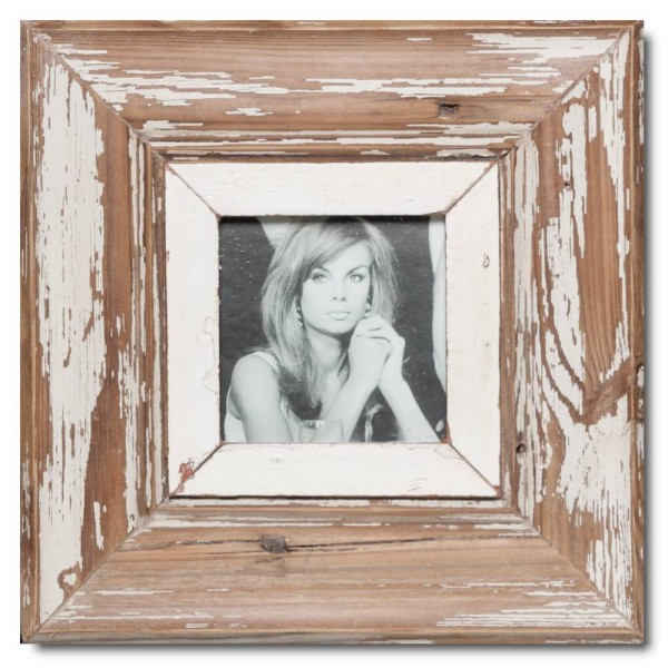Square rustic timber frame for picture format 10,5 x 10,5 cm