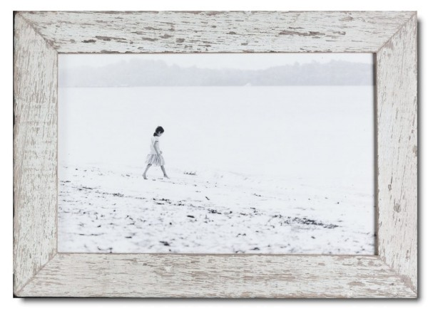 Basic distressed wooden picture frame for photo format 25 x 38 cm