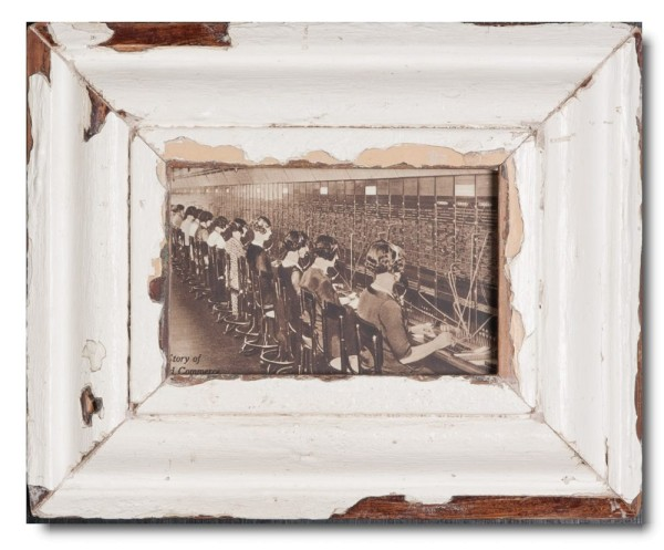 Rustic timber picture frame for picture size A6