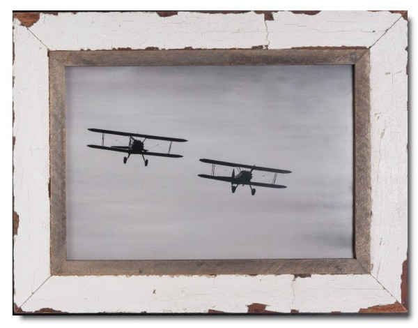 Reclaimed wood frame for photo format A3