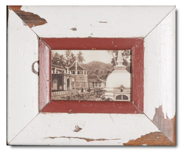 Distressed wooden picture frame for picture format A6