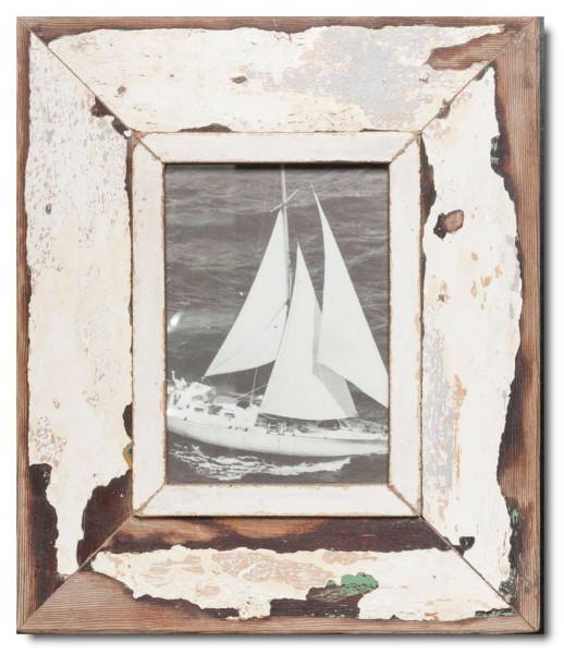 Wide rustic timber picture frame for photo size 21 x 14,8 cm | Luna ...