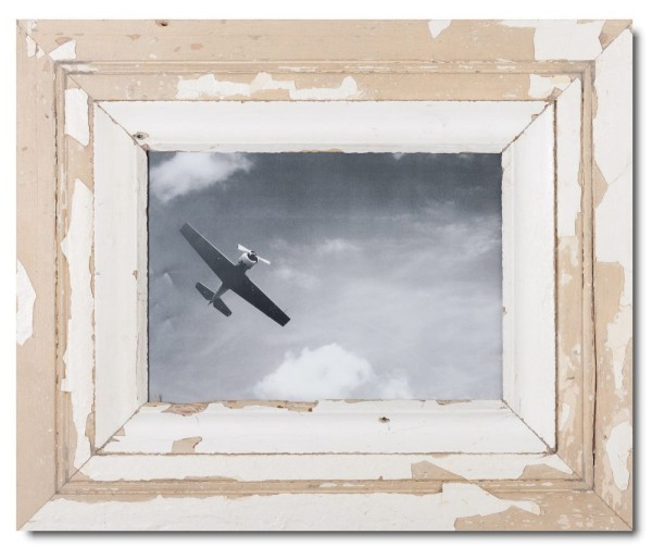 Wide distressed wooden frame square for photo format 29,7 x 21 cm