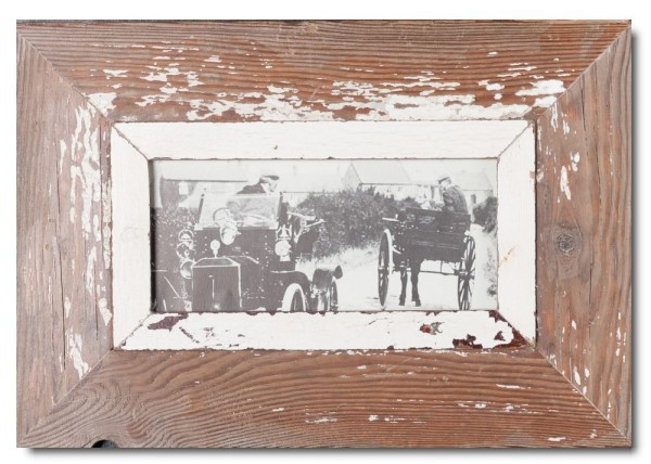 Panoramic Reclaimed wood frame for picture format A5 panoramic