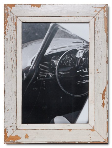 Distressed wooden picture frame for photo size 42 x 29,7 cm