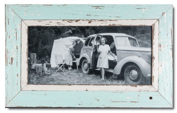 Panoramic rustic timber picture frame for picture size 42 x 21 cm