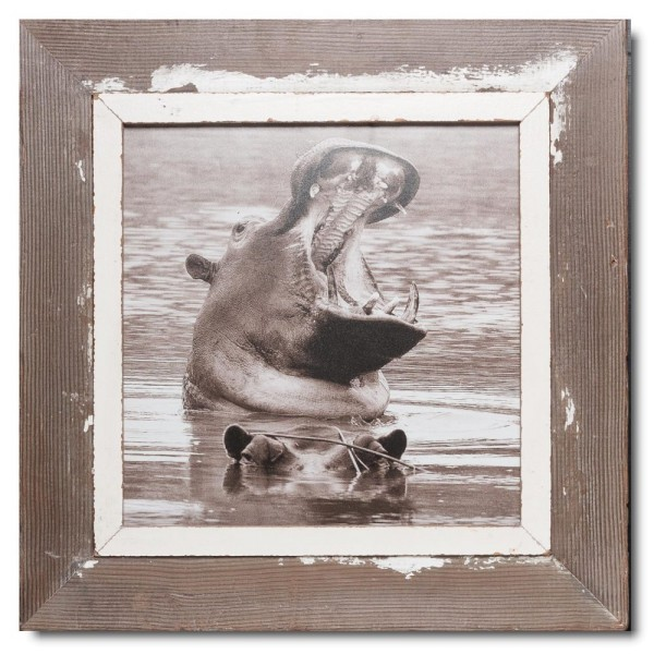 Square Reclaimed wood frame for photo size 29,7 x 29,7 cm