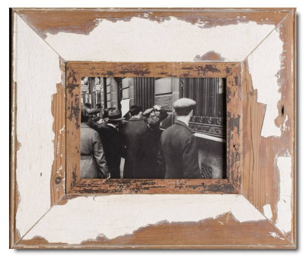 Wide rustic timber photo frame for picture size A5