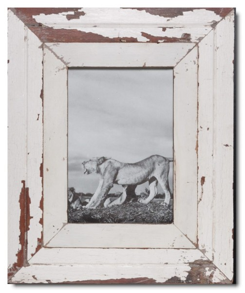 Wide reclaimed wood picture frame