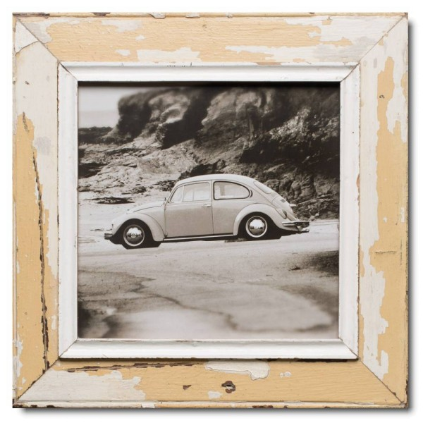 Square reclaimed wood photo frame for photo size A3 square