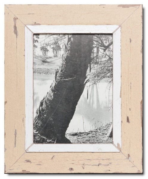 Rustic timber frame for picture size 29,7 x 21 cm