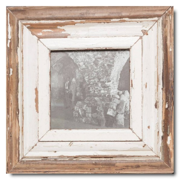 Square reclaimed wood photo frame for photo format A5 square