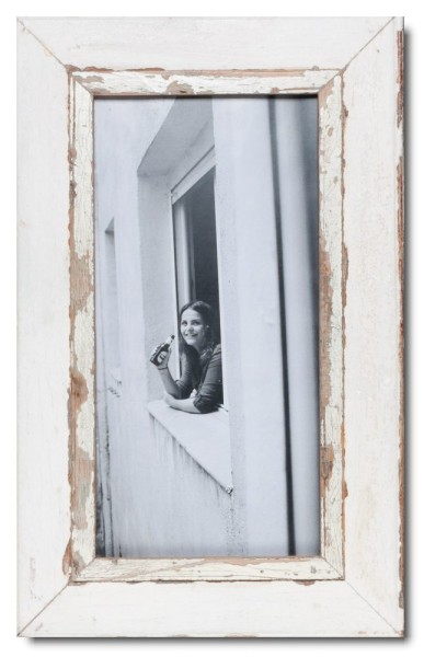 Panoramic Reclaimed wood frame for picture format 42 x 21 cm