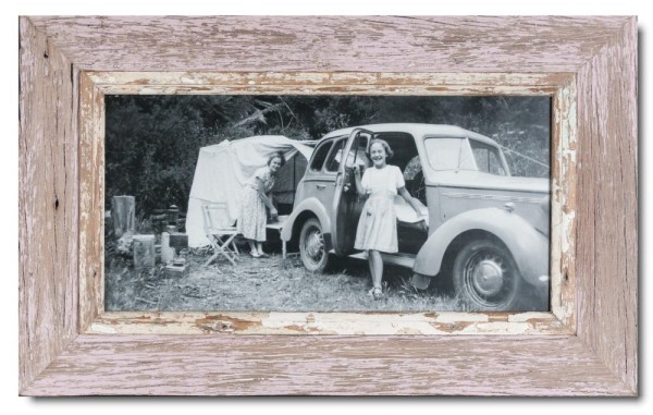 Panoramic Reclaimed wood frame for photo format 2:1