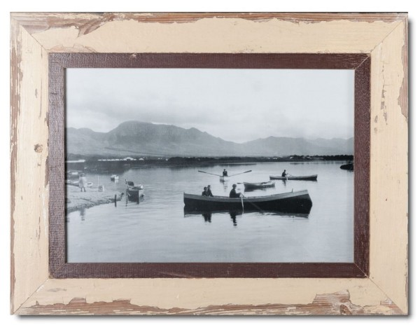 Distressed wooden frame for picture format A3