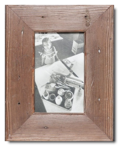 Basic reclaimed wood picture frame for picture format 10 x 15 cm