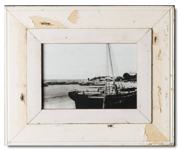 Wide reclaimed wood photo frame for picture size A4