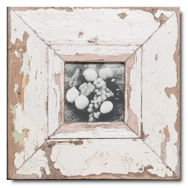 Square rustic timber picture frame for picture size A6 square