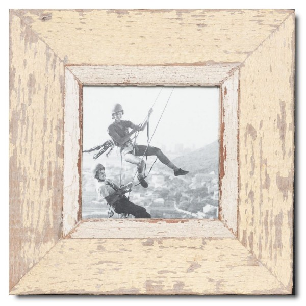 Square reclaimed wood picture frame for picture size A5 square