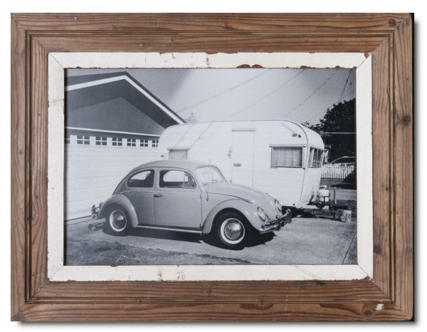 Reclaimed wood photo frame for photo format 42 x 29,7 cm