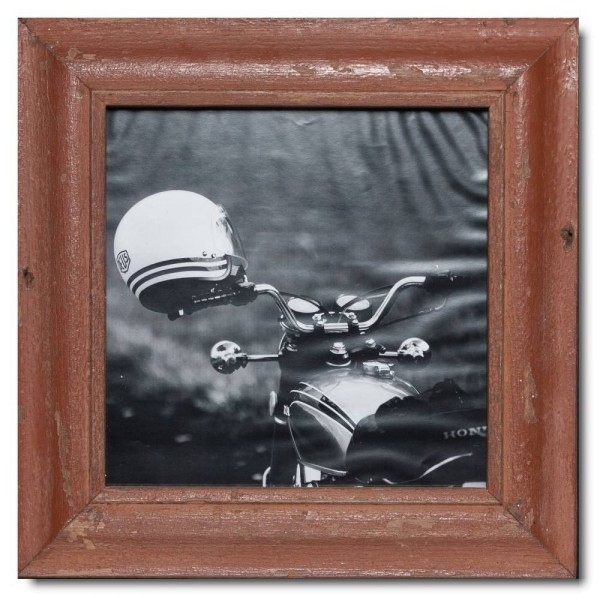 Square rustic timber photo frame for picture format A3 square
