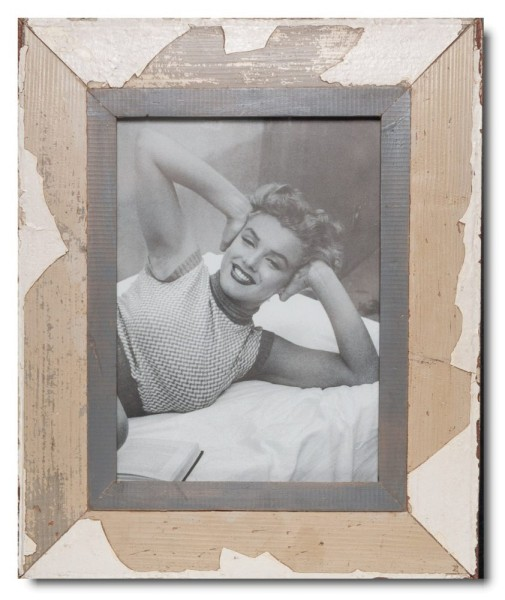 Rustic timber picture frame for photo size A4