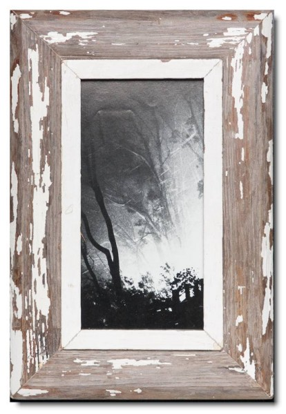 Panoramic reclaimed wood photo frame for picture size A4 panoramic