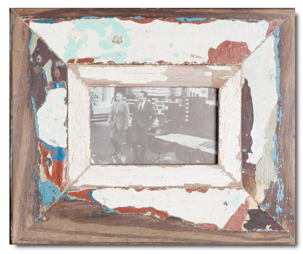 Reclaimed wood frame for picture size 14,8 x 10,5 cm