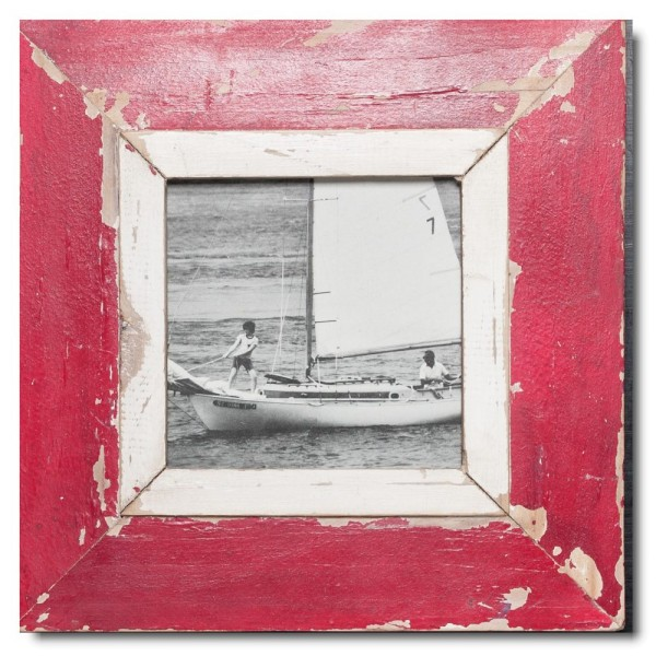 Square rustic timber photo frame for photo format A5 square