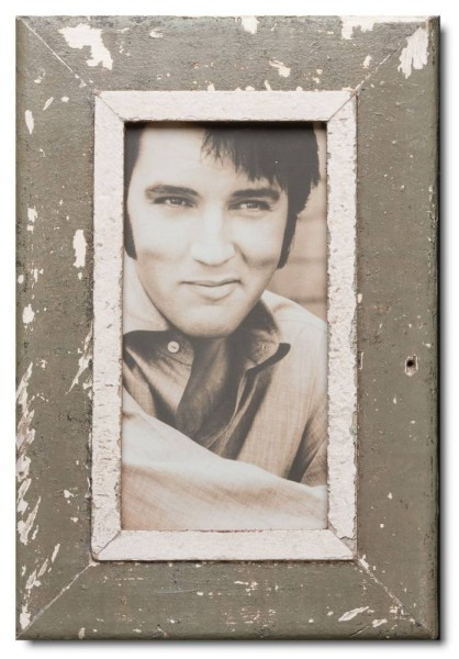Panoramic distressed wooden picture frame for picture format 29,7 x 14,8 cm