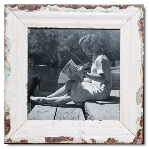 Square Reclaimed wood frame for picture size A3 square