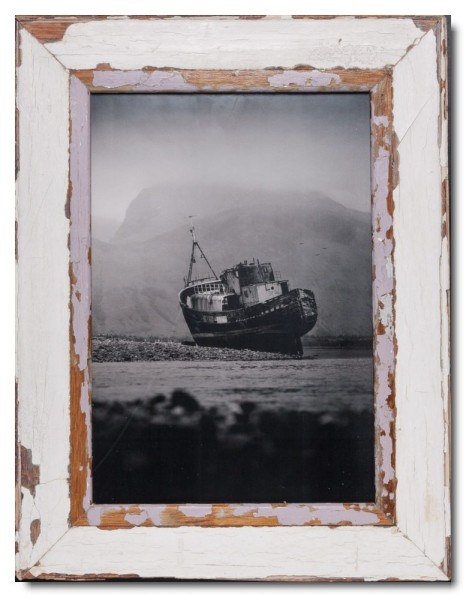 Reclaimed wood picture frame for photo format 42 x 29,7 cm