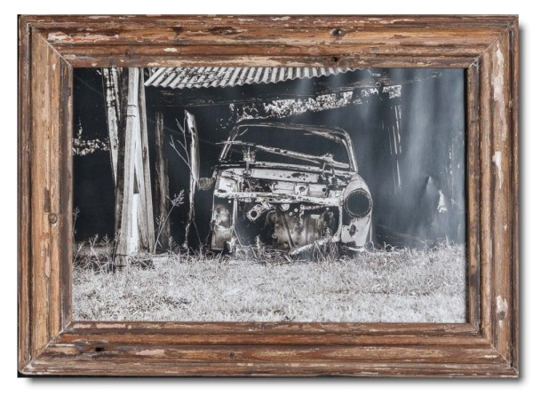 Basic rustic timber picture frame
