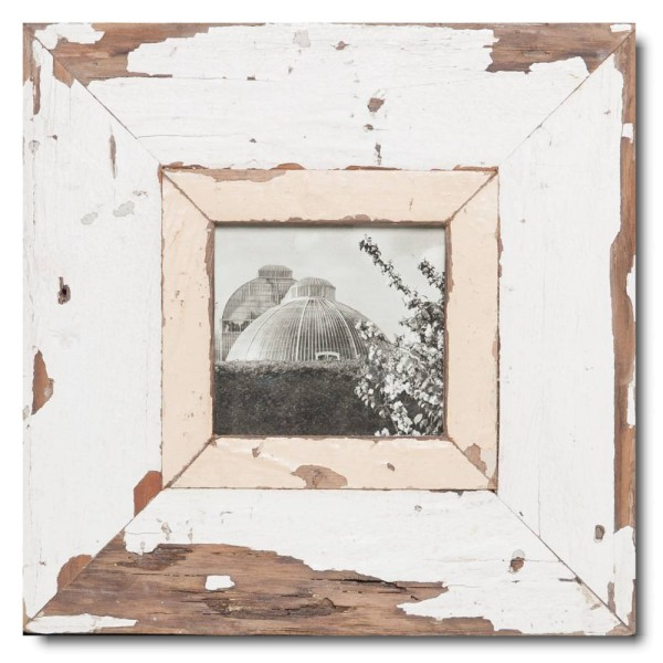 Square Reclaimed wood frame for picture format A6 square