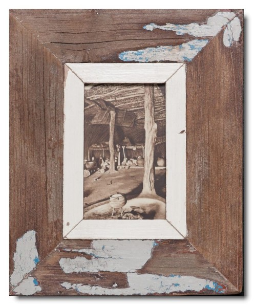 Distressed wooden frame