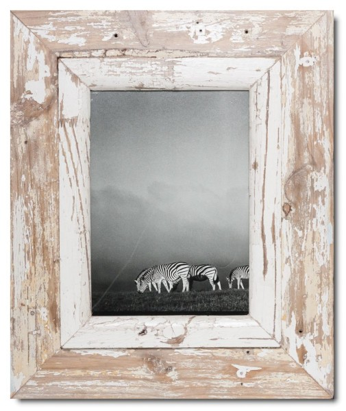 Wide rustic timber picture frame for photo format A4
