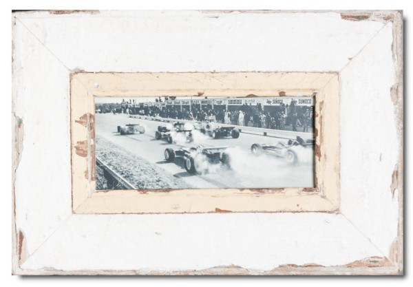 Panoramic rustic timber photo frame for photo size 2:1