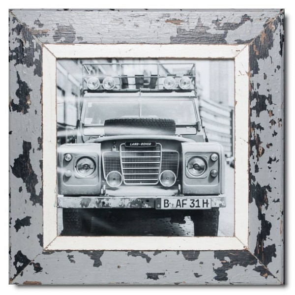 Square Reclaimed wood frame for picture format 29,7 x 29,7 cm