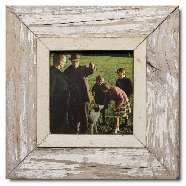 Square Reclaimed wood frame for picture format A5 square