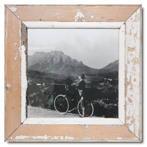 Square rustic timber picture frame for picture size 29,7 x 29,7 cm