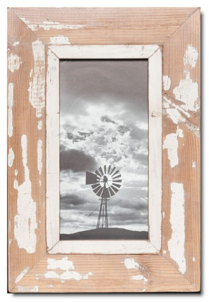 Panoramic reclaimed wood picture frame for picture size 2:1