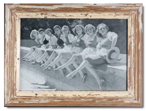 Distressed wooden picture frame for picture size A3