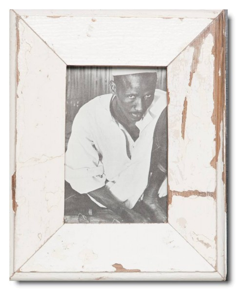 Basic distressed wooden frame square for picture format 10 x 15 cm