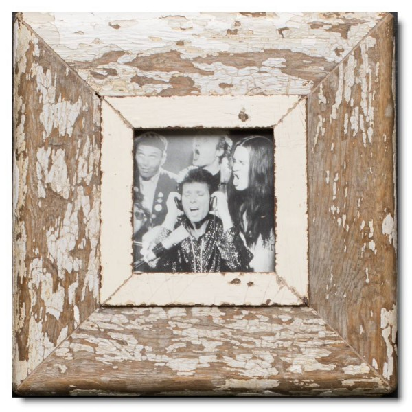 Square rustic timber picture frame for picture format A6 square