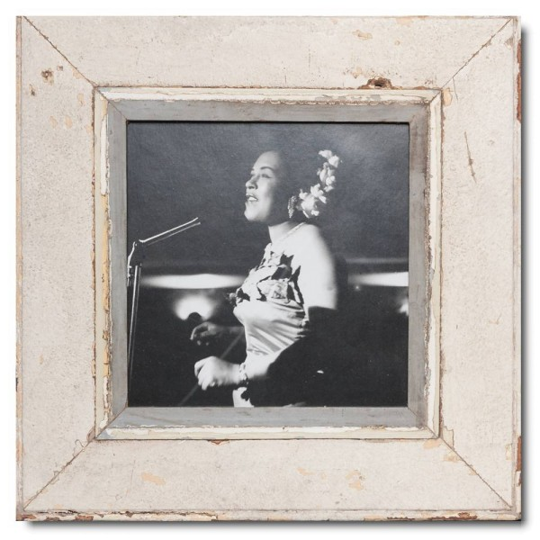 Square distressed wooden frame square for picture format A4 square
