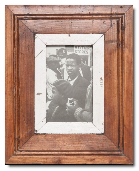Rustic timber photo frame for picture format A6