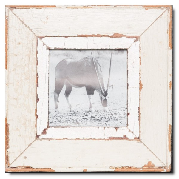 Square reclaimed wood photo frame