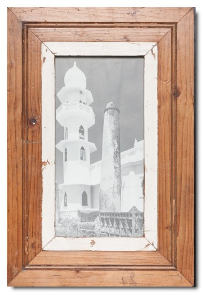 Panoramic Reclaimed wood frame for photo format 29,7 x 14,8 cm